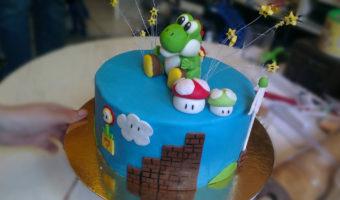 Super Mario Yoshi Fondant Tutorial